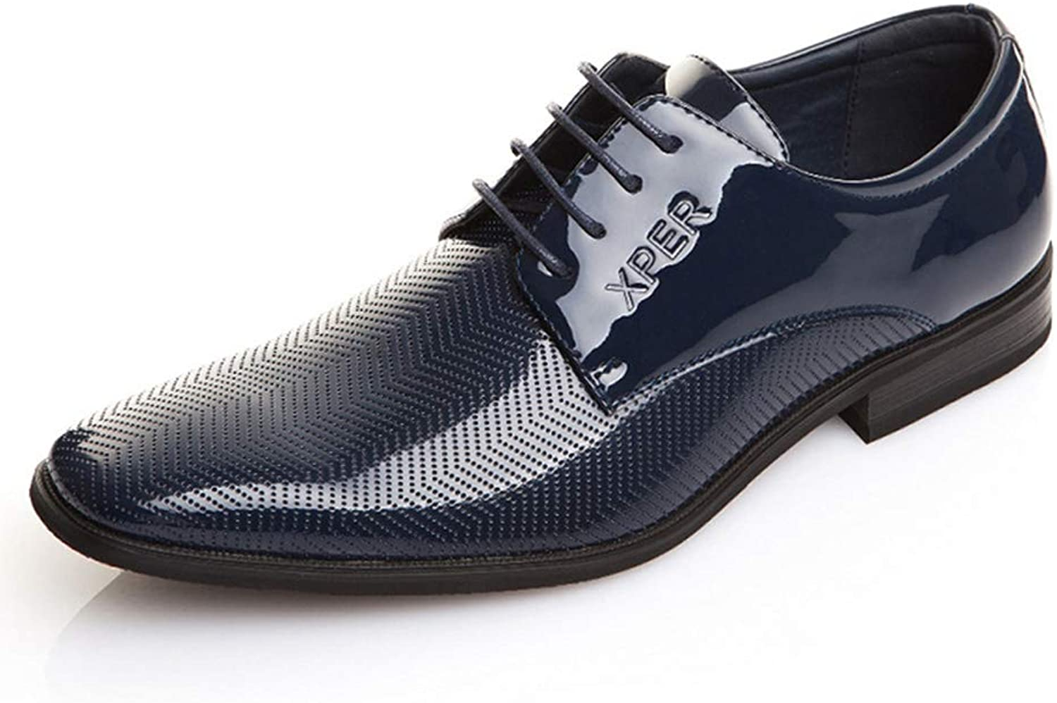 Men Oxford shoes Party and Wedding bluee Formal Male Office Party Business Dress shoes