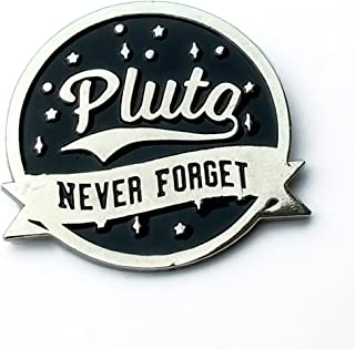 975057ea71a Astronomy enamel pin - Pluto never forget - science pin - funny pin - lapel  pin
