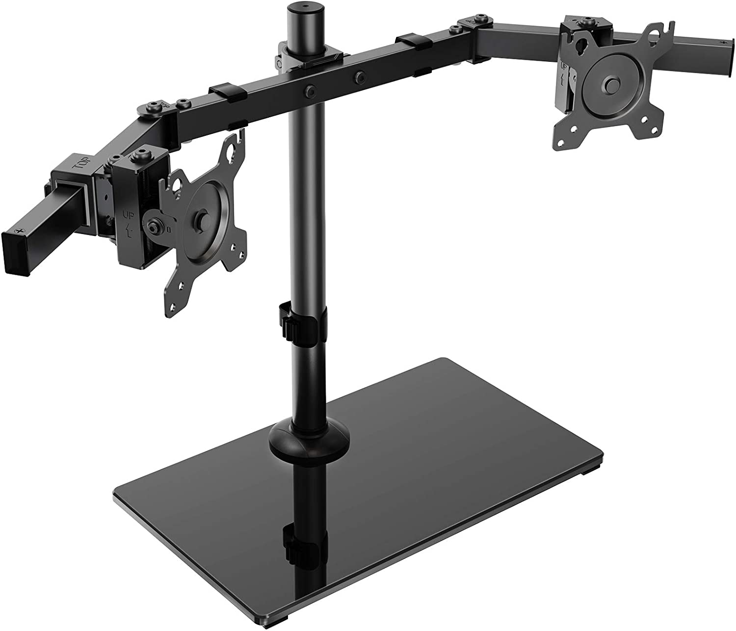 HUANUO Dual Monitor Stand Ranking TOP8 - Standing Two Free Adjustable Height Excellent