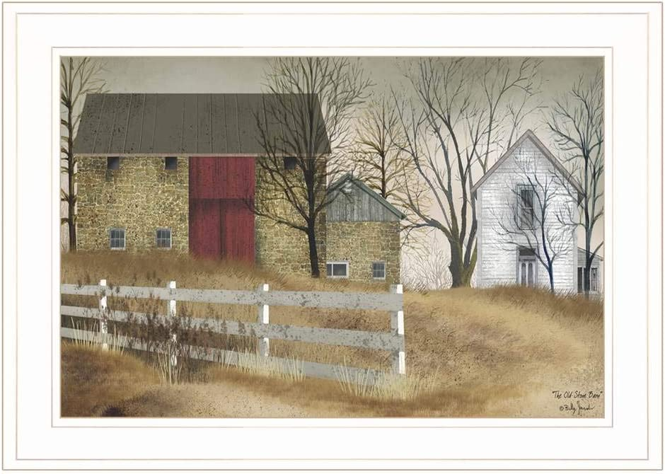 Trendy Decor4U The Old Stone Barn Free shipping on posting reviews SALENEW very popular Wall Billy Jacobs Printed A by