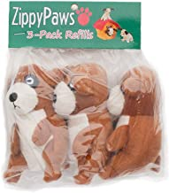 ZippyPaws - Zoo Friends Burrow, Interactive Squeaky Hide and Seek Plush Dog Toy - Meerkat Miniz, 3 Pack