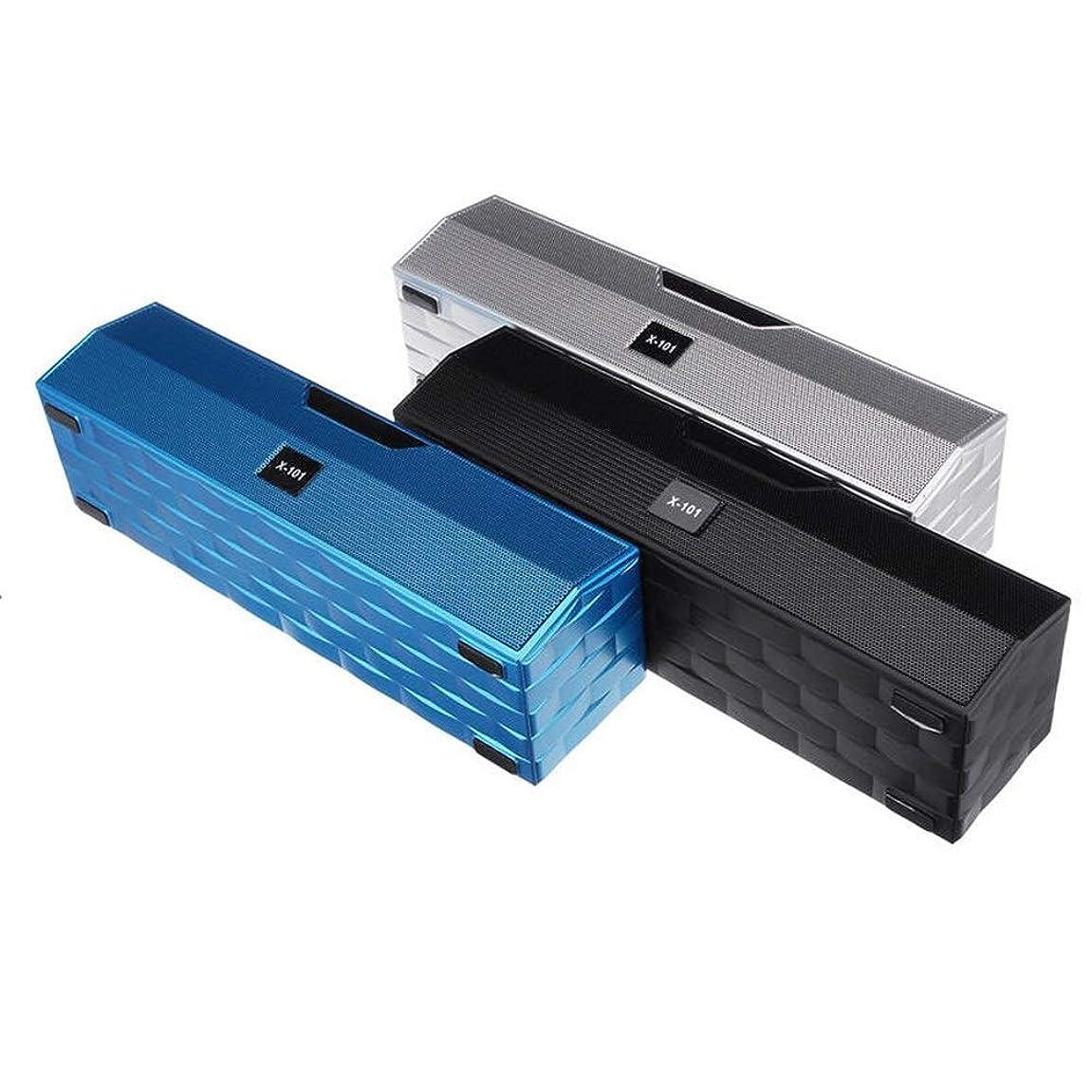 団結称賛製造業ZUIANSHANG ワイヤレスBluetoothスピーカーマイクポータブルアウトドアとFMラジオTFカードUディスクフラッシュライトサブウーファースピーカー PCスピーカー (色 : Blue)