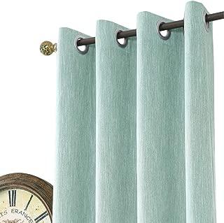 mint color curtains