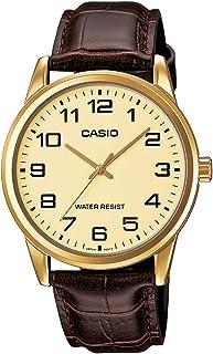Casio Men's Mtp-v001gl-9b Quartz Watch with Genuine Leather