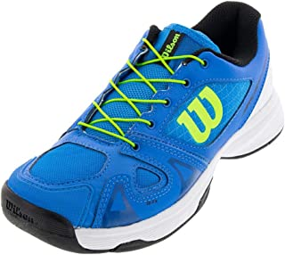 Wilson RUSH PRO JR QL Tennis Shoes, Brilliant Blue/White/Green Gecko