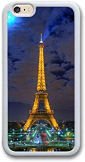 iPhone 6 TPU Case,6S Case,Eiffel Tower Paris France Night Hdr Slim Case for iPhone 6 6S 4.7 White W85518