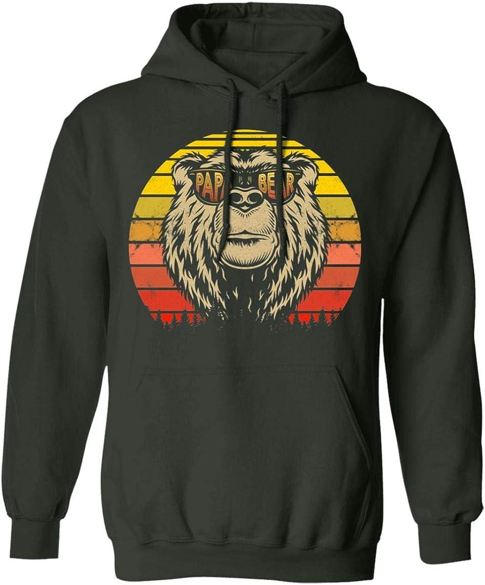 Proud Best Papa Bear Vintage 未使用品 Funny Hoodie Dadd - 25%OFF Sweatshirt