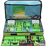 Pevfeciy Kit Electricidad Aprendizaje con Instrucciones (español),Kit Electricidad Escolar,Kit de Electricidad y magnetismo Starter Kit para Niños De Estudiantes Secundarias Y Preparatorias