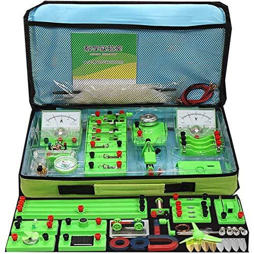 Pevfeciy Laboratorio De FíSica Kit Circuitos Electronicos,Experimentos Electricidad,Circuito Electrico para NiñOs Resistencias,FíSica...