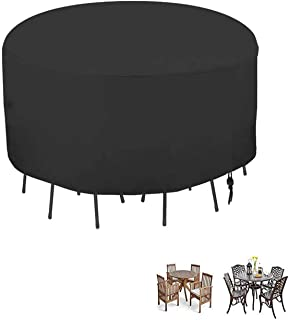 POMER Patio Table & Chair Set Cover - 90 x 43 Inch Premium Outdoor Furniture Cover with Durable and Water Resistant Fabri...