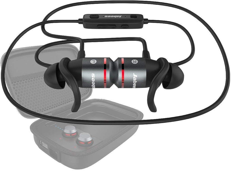 憂慮すべき更新レギュラージャビーズ 補聴器具 次世代型 集音器 ワイヤレスイヤホン 一体型 Bluetooth4.1 音楽視聴 通話 集音の3in1機能 アンプサウンド (レッド, スターターキット)