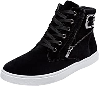 a028c7fa296 morecome Men High Help Fashion Warm Boots Footwear Canvas Casual Shoes Black