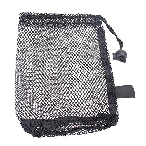 ADAGG Golf Ball Bag, Mesh Stuff Sack, Laundry Bag, Durable Lightweight Nylon Mesh Bag with Cord Lock Closure