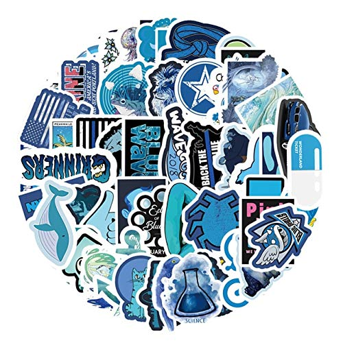 FAFPAY Car sticker 61pcs vsco blue small fresh graffiti scrapbooking stickers for laptop car helmet suitcase computer bicycle stickers stickers61pcs