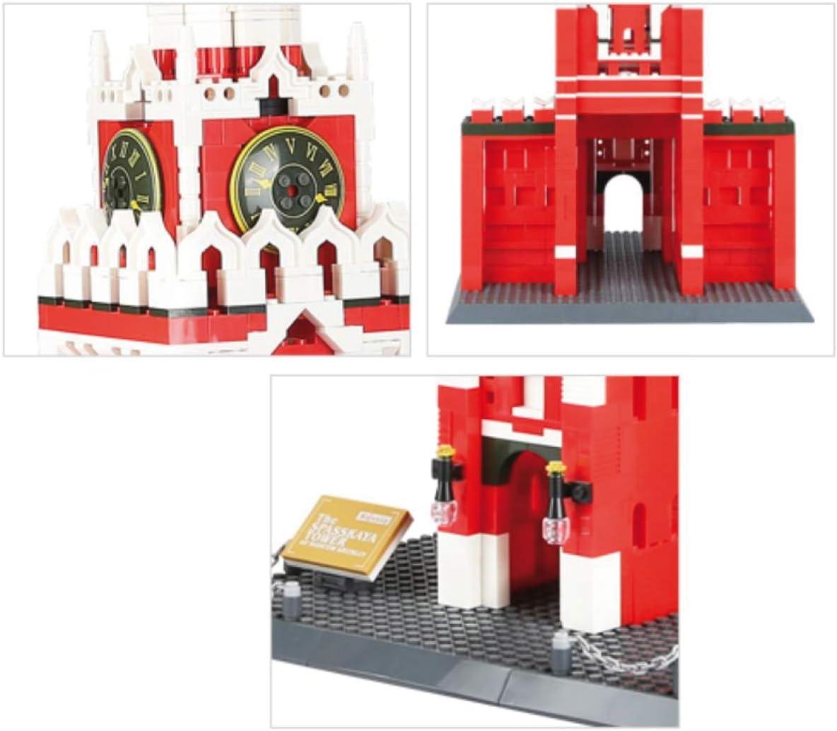 Kathedrale Notre Dame. Architektur Modell zum Bauen mit Bausteinen. Moskau - Spasskaja-turm