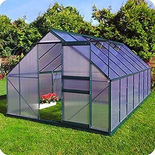 comprar comparacion Slide & Grow Invernadero Gran Torino en Aluminio y policarbonato alveolar de 6 mm. Base incluida. Tamaño 250 x 430 cm.