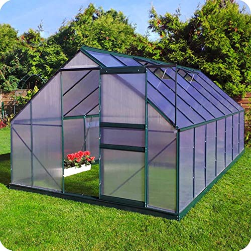 Slide & Grow Invernadero Gran Torino en Aluminio y policarbonato alveolar de 6 mm. Base incluida. Tamaño 250 x 430 cm.