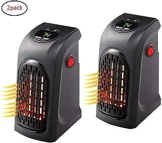 CXDM Calentador Eléctrico ABS Plástico Handy Calefactor Plug-In Personal Room Office Heater,2Pack