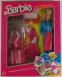 Vintage BARBIE VACATION SENSATION Doll (BLUE) w Sportswear & Accessories For Travel Fun (1986)