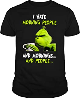 I Hate Morning People T Shirt, Grinch Stole Christmas T Shirt, Dr. Seuss T Shirt