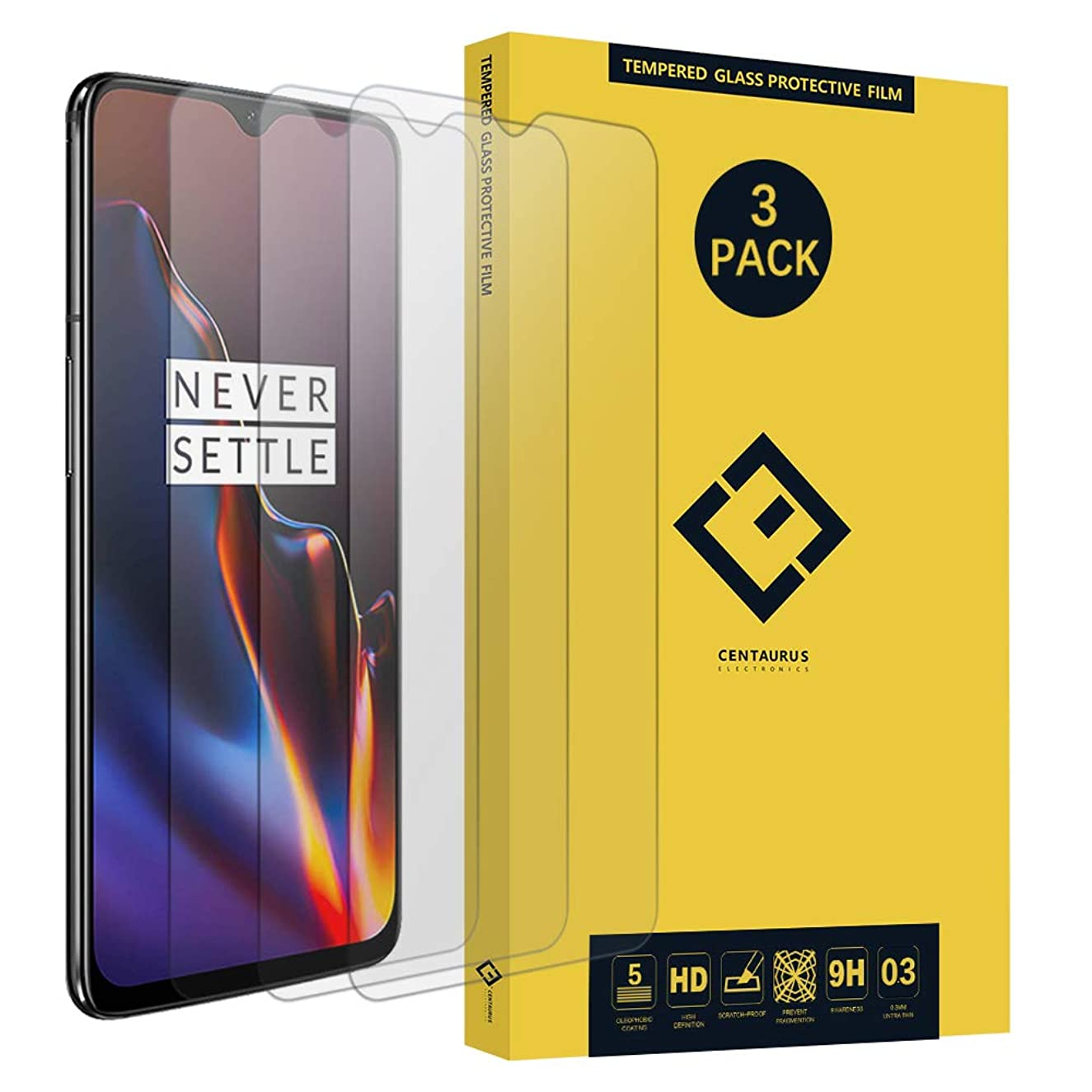 CENTAURUS Replacement for OnePlus 6 Soft Hydrogel Screen Protector, (3 Pack) Ultra-Thin High Sensitivity Water Resistant Clear Full Coverage Screen Protector Film fit OnePlus 6 A6000 A6003 (Not Glass)