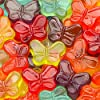 Albanese Candy Mini Gummi Butterflies 80 Ounce (Pack of 1), Gummi Candy Assorted Flavors: Grape, Strawberry, Orange, Blue Raspberry, Cherry, Green Apple; Gluten Free Dairy Free Fat Free Low Calorie #2