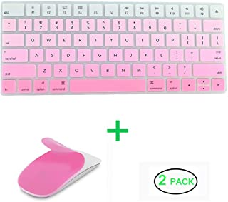 JIFF 2 in 1 Bundle - Silicone Soft Skin Protector Covers for Apple Magic Keyboard (MLA22LL/A) with US Layout and MAC Apple...
