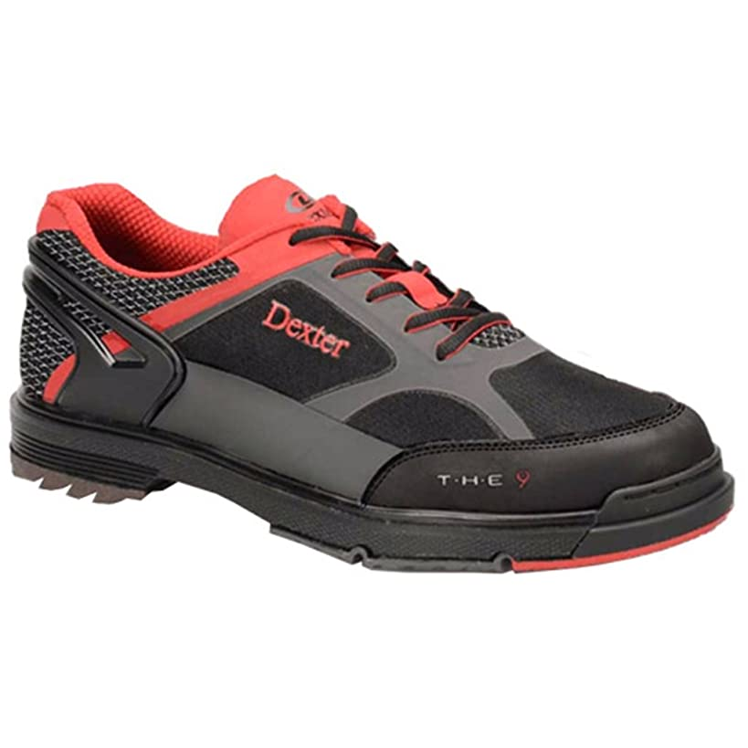 Dexter Men's The 9 HT Wide Bowling Shoes, Black/Red/Grey, Size 12.0