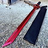 NEW! 27' Ninja Sword Machete RED Full Tang Tactical Blade Katana NEW w/Sheath
