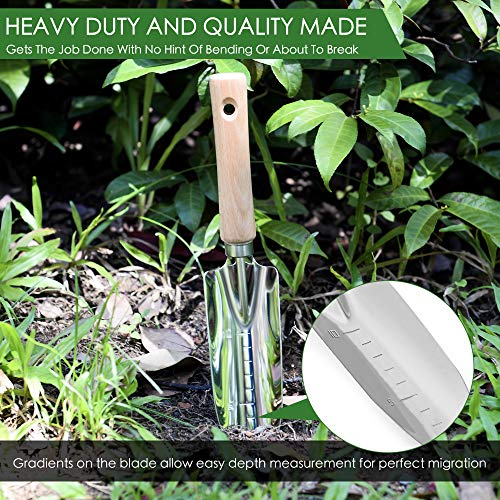 Garden Hand Weeder And Trowel Tool Kit - Digging, Shovel, Grass Puller, Remover, Dandelions, Thistle, Lawn Picker, Claw Fork, Stainless Digger For Small, Root, Prong Short Gardening Waste Bag Included