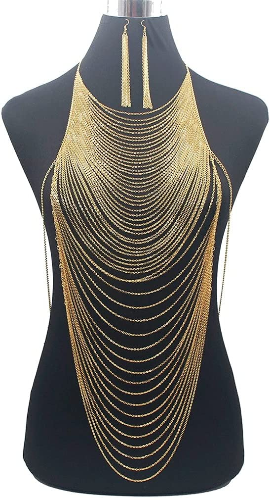Translated NJBYX Fashion Shiny Sexy Body Belly C Full Gold Our shop OFFers the best service Chain Color