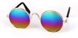 ペットメガネ BOBOGOJP オシャレ 猫用メガネ 犬用眼鏡 日焼け対策 ペットサングラス 服 アクセサリー ペット飾り 写真用 撮影物 アクセサリー (カラー)