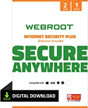 Webroot Internet Security Plus with Antivirus Protection – 2019 Software  | 3 Device | 2 Year Subscription | PC Download