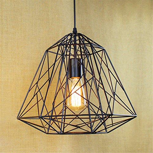 DengWu hanglampen hanglampen plafondlampen frame ijzer draad diamant hanglijn nostalgie retro pastoral Scandinavisch eenvoudige hanglamp van ijzer
