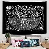 Brandless Sunset Tapestry Bohemian Wall Hanging Background Cloth Decoración para el hogar Manta para la habitación Sundown Red (95x73cm)