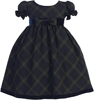Lito Girls Holiday Christmas Year's Plaid Dress
