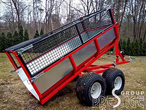 Remolque universal 3 en 1 para ATV/UTV/Forst con grúa de carga/cabrestante, color rojo