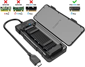 ineo USB 3.1 Gen 2 Type C Tool-Less M.2 SSD Enclosure 2280 2260 2242 2230 SSD Housing NGFF Case to USB3.1 gen 2 Type C Cable [C2575 M2 NVME]