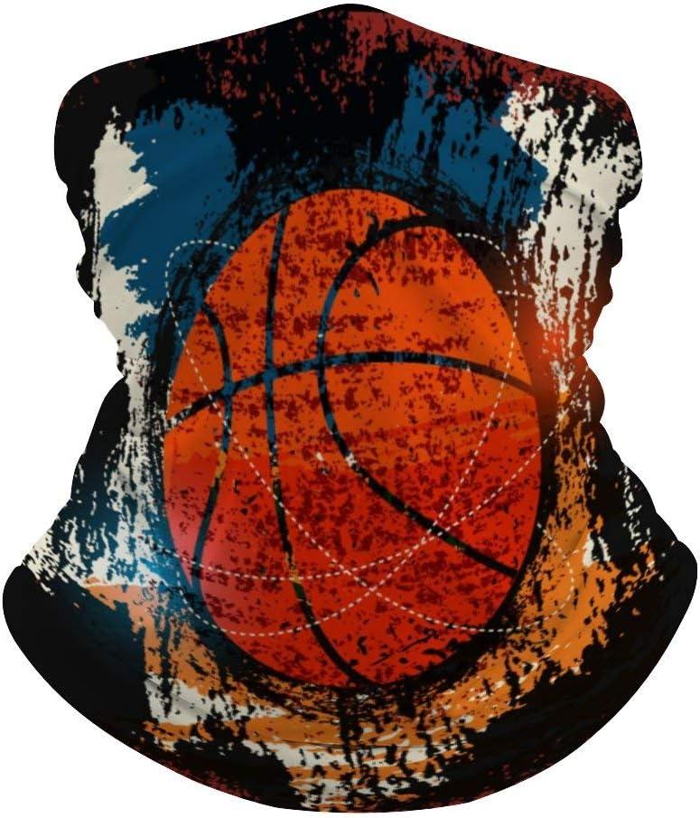 Tamengi - Pasamontañas de media cara con protección para la cara, bufanda, acuarela para baloncesto, polaina, máscara resistente al viento
