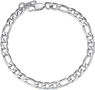 Best figaro bracelet silver Reviews