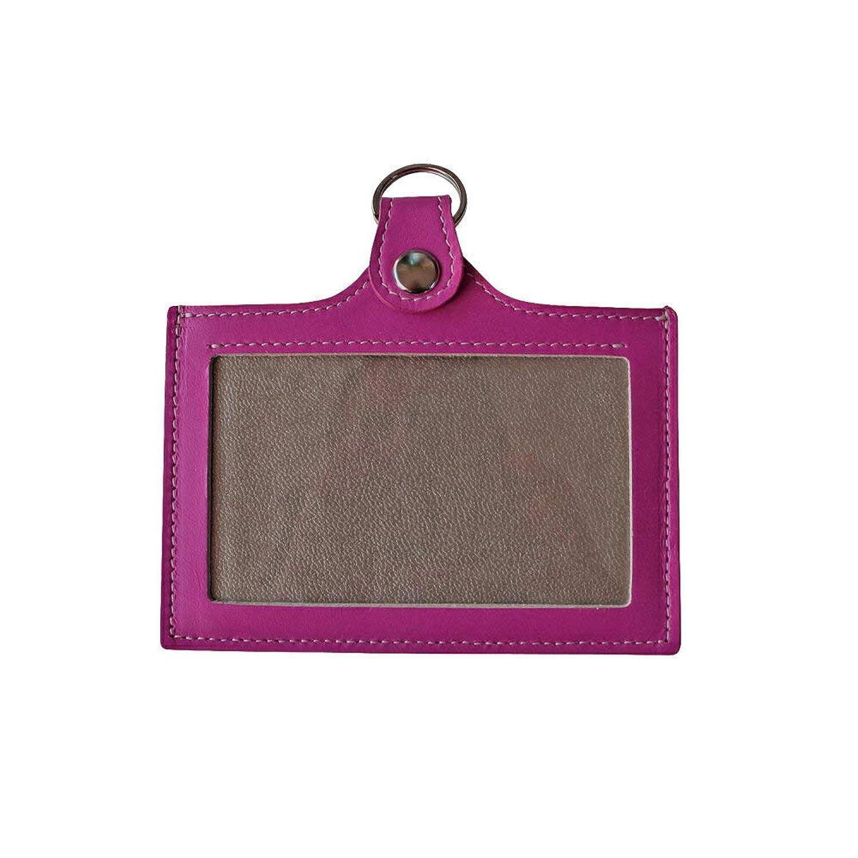 IDケース カードホルダー マゼンタパープル 便利な 両面 パスケース 本革 日本製 パスケースの色は マゼンタパープル