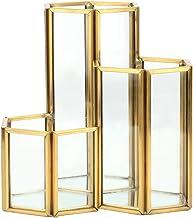 3 Slots Make-up Borstel Houders, Gouden Potlood Houder Pen Houder Make-up Borstel Organizer Pen Cup voor Vanity Badkamer K...