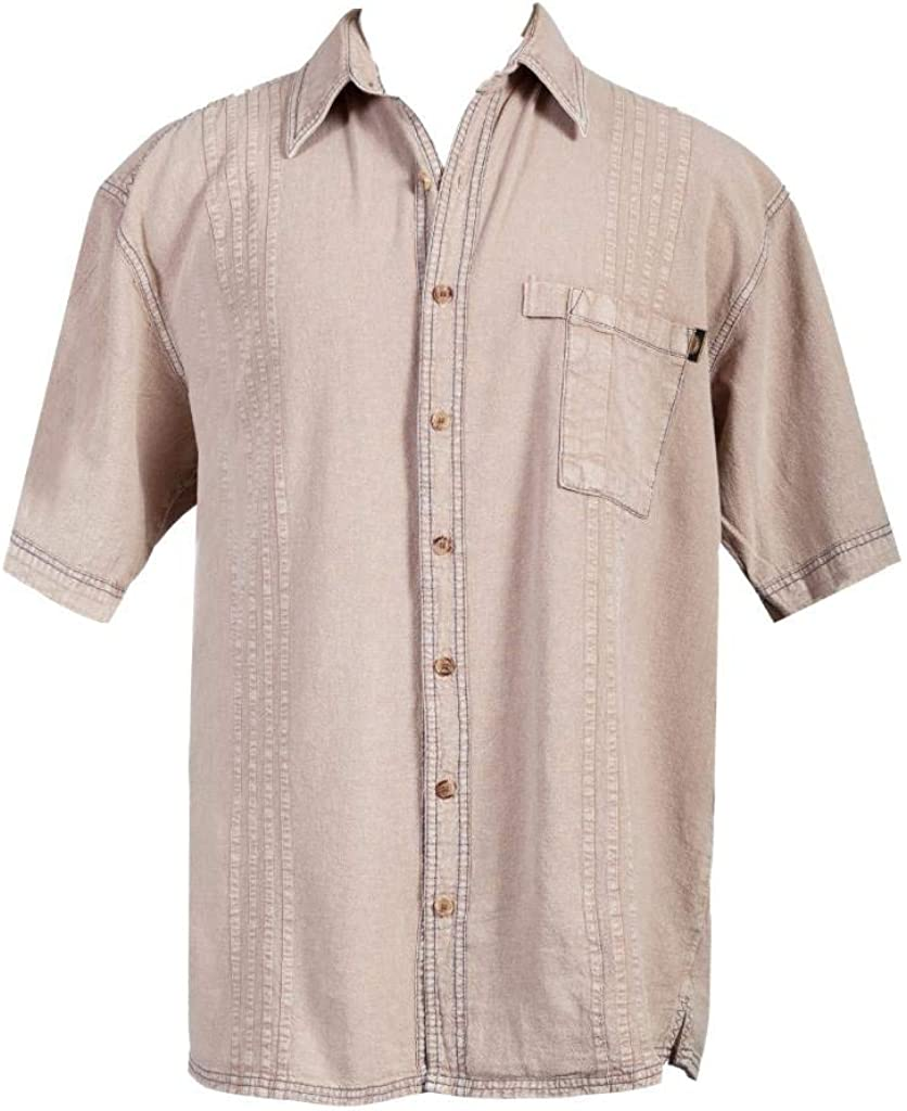 Scully Western Shirt Mens Short Sleeve Button Pleated F0_4800