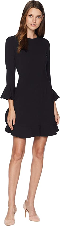 Ruffle Hem and Sleeve Detail Dress