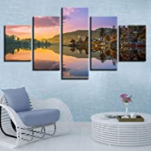 LIVELJ XXl,home Oil Paintings 5 piece canvas Prints art work Panels Modern Set Gallery HD Pictures Wall Decoration Large Poster/Norway Nature/Framed