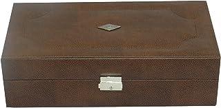 Laveri 10 Watches Storage Box - Brown