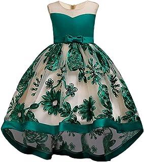 (フォーペンド)Forpend DR85 子どもドレス 女の子 フォーマル 発表会 結婚式 子供服 ロング110 120 130 140 150cm プリンセスドレス フラワーガール グリーン