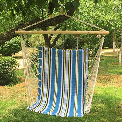 dehong XXL Garden Swing Chairs For Adults with Wooden Stick,100x130cm (Load Capacity 200 kg) Blue Swing Set For Garden for Indoor,Outdoor,Bedroom,Patio,Yard, Garden,Home