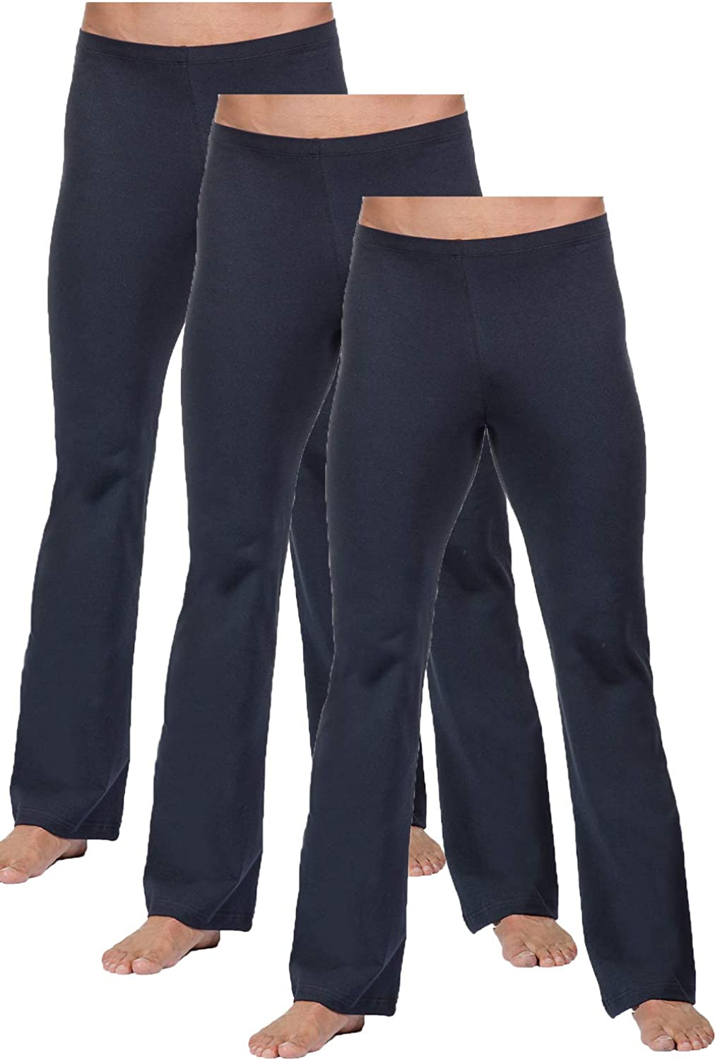 FitwearUSA Men's Basic Dance Pant Dallas Mall with All stores are sold - Ballroom Elastic Waist