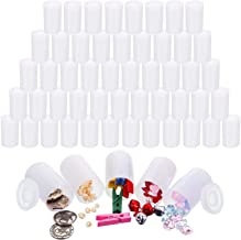 Jovitec 60 Pieces White Film Canisters with Caps, 35 mm Empty Camera Reel Storage Containers Case with Lids, Films Developing Processing Tube for Storing Films, Small Accessories